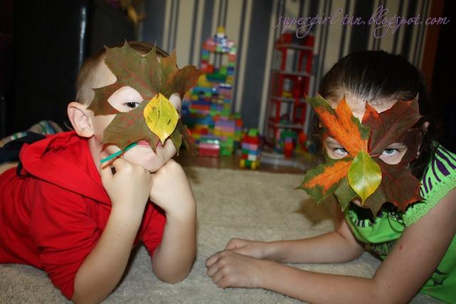 маски из листьев