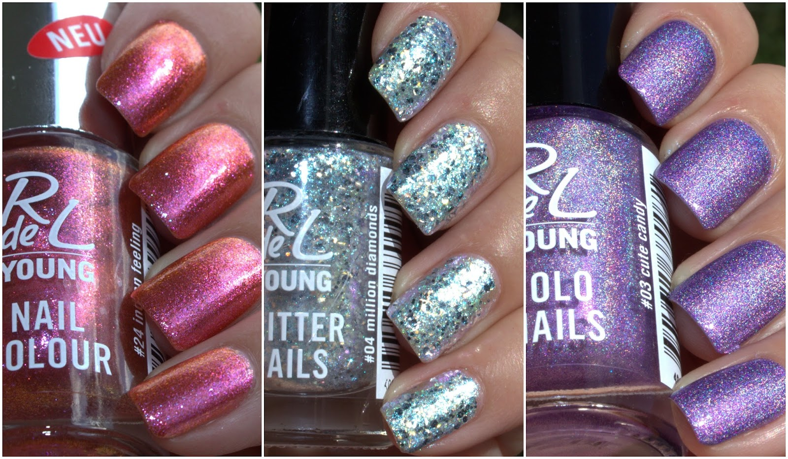 Swatch-Party | Herbst, Glitter & Holo von RdeL Young - HungryNails ...