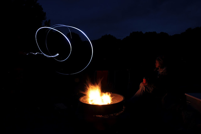 Simple light painting over a campfire at Great Sand Dunes N.P.