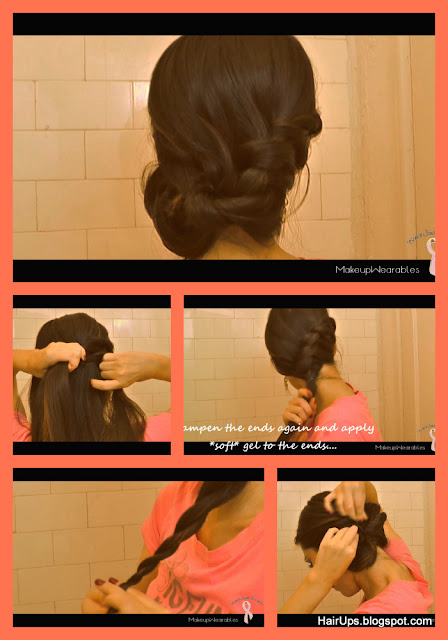 c8 EASY HAIRSTYLES: FRENCH ROPE BRAID BUN CHIGNON UPDO ON LONG HAIR