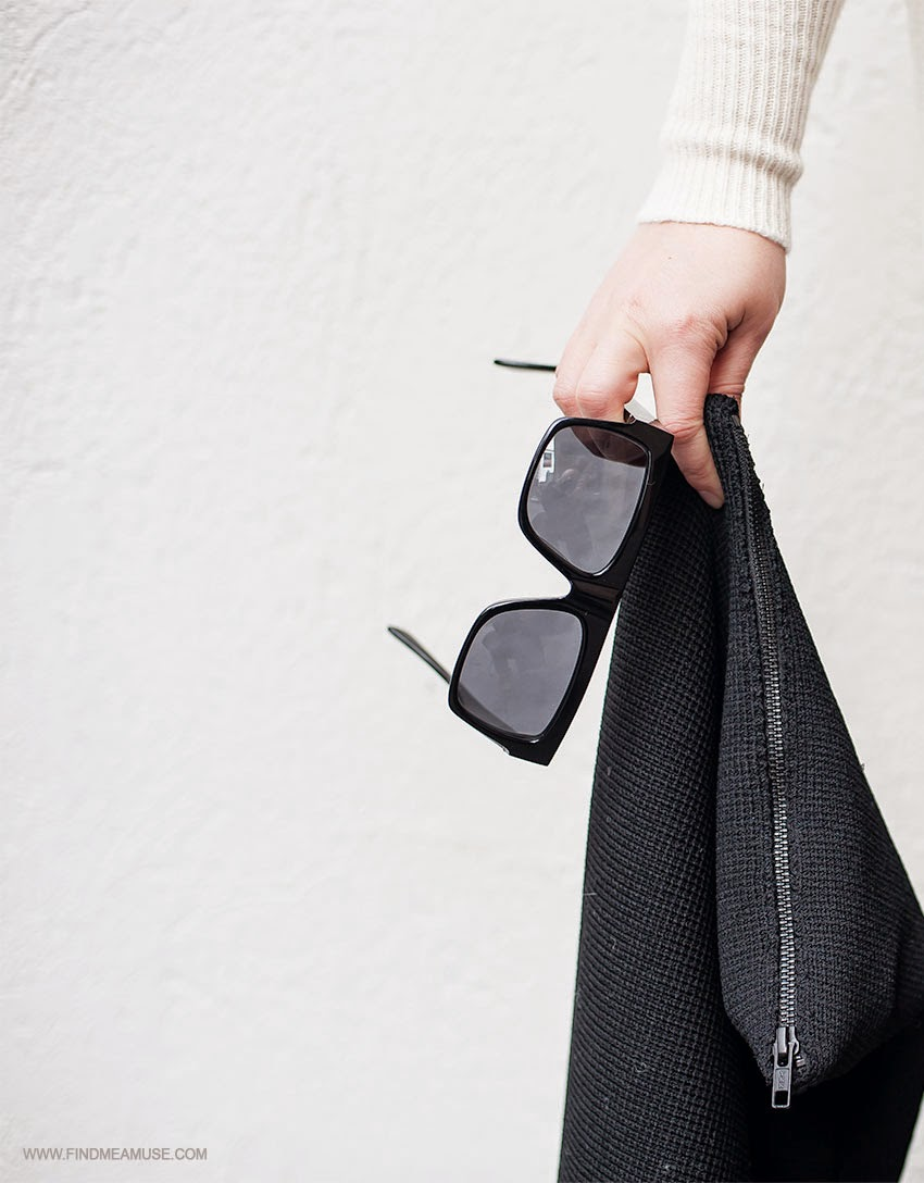 Celine ZZ top sunglasses Scanlan and Theodore crepe zip clutch