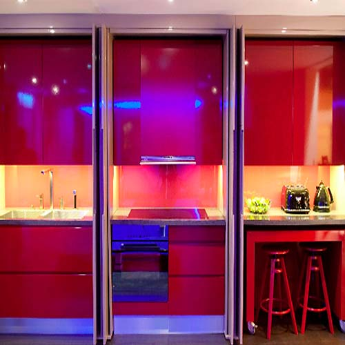 Modern Home Design With Hi Tech Kitchen Furniture