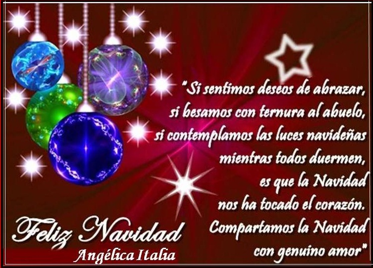 Ang lica italia para mi nieto a o las de mis amistades - Deseos para la navidad ...