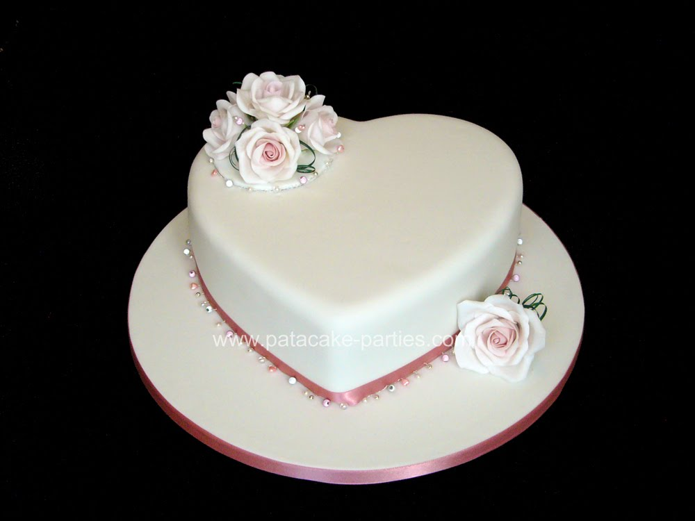 Pat A Cake Parties Single Tier Wedding Cake