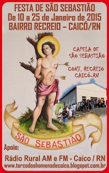 Programação da Festa de São Sebastião 2015