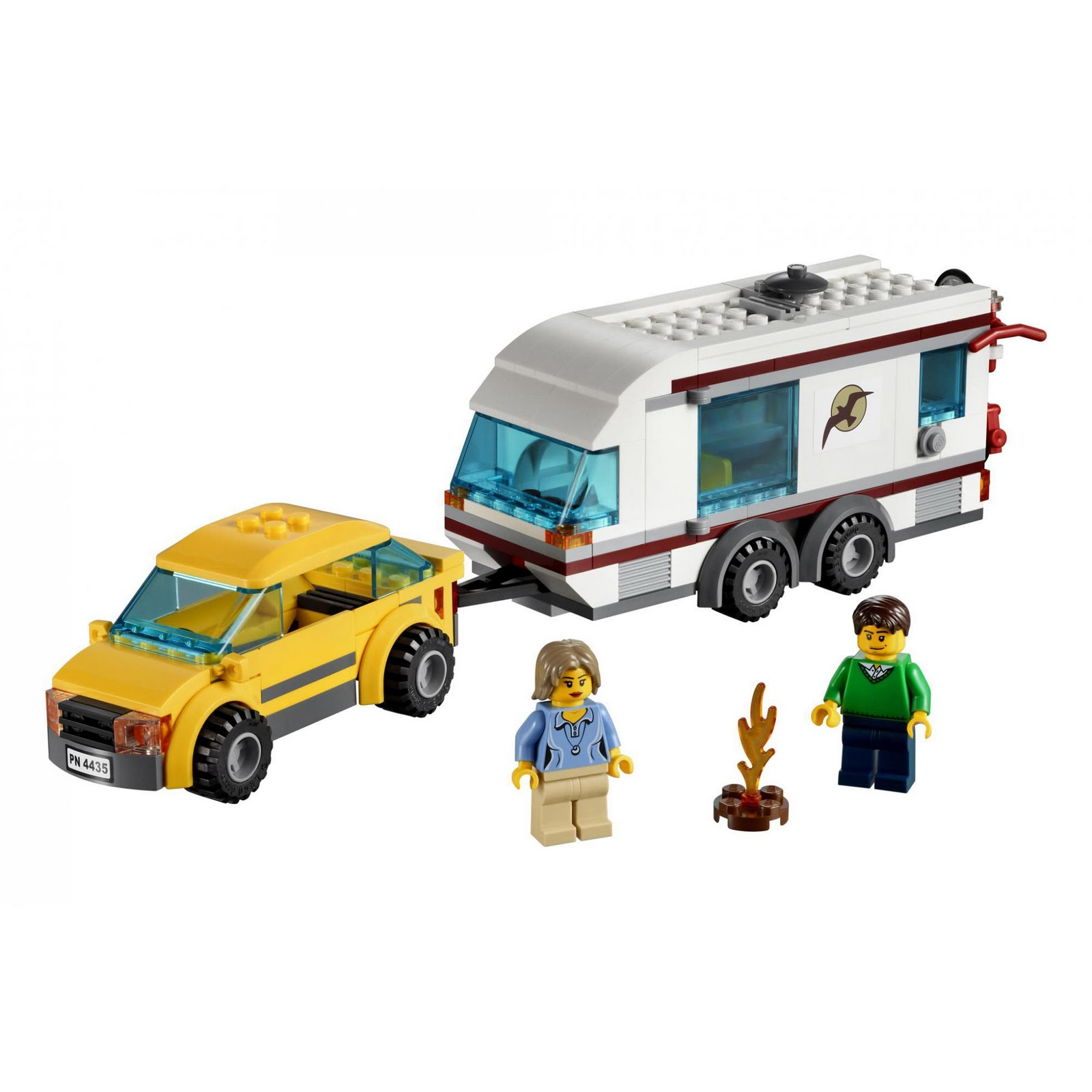 set database lego 4435 car and camper. Black Bedroom Furniture Sets. Home Design Ideas