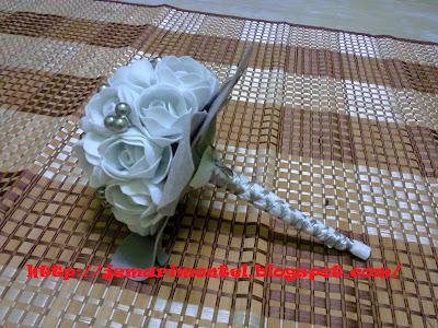hand bouquet handle finishing