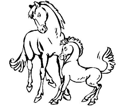 dibujos para pintar de animales caballo