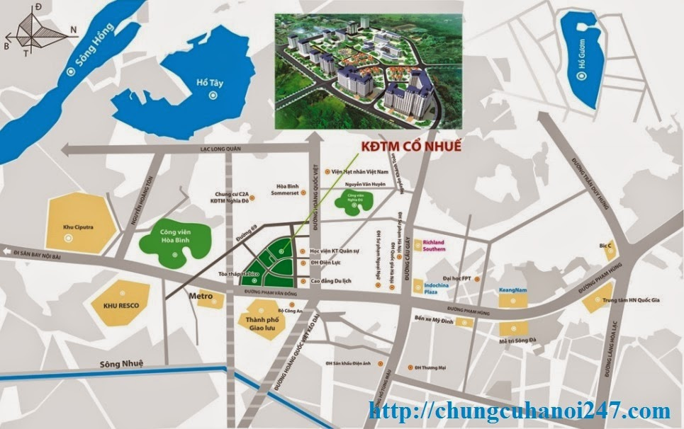 Vị trí chung cư CT3 Cổ Nhuế, mặt tiền đường Phạm Văn Đồng, Ngõ 110B Hoàng Quốc Việt
