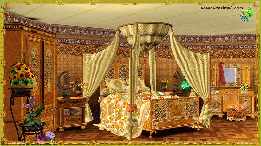 Sims 3 3d Drawing Models Character Painting Artist Casablanca Moroccan Bedroom Set By Vita Sims