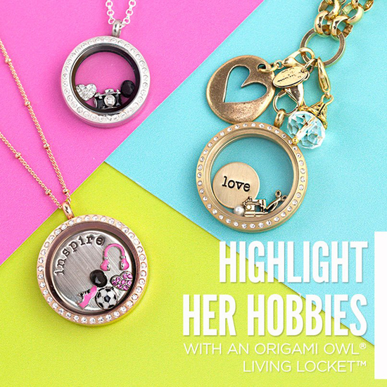 Her Hobbies Origami Owl Living Lockets highlight what she loves | StoriedCharms.com