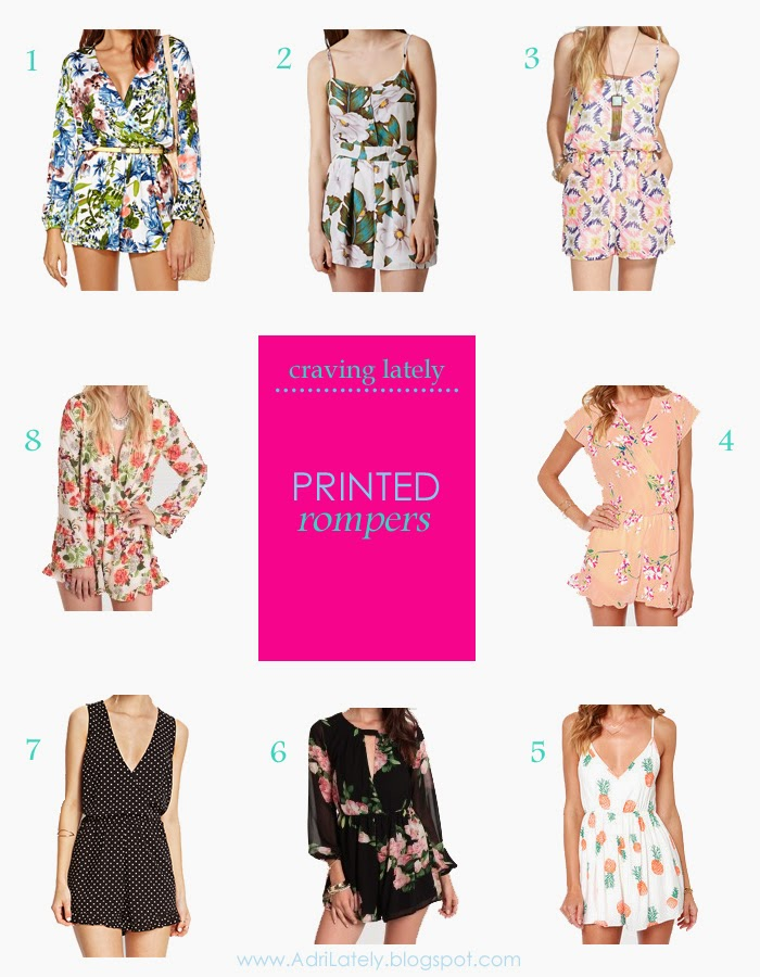 cute printed rompers for women
