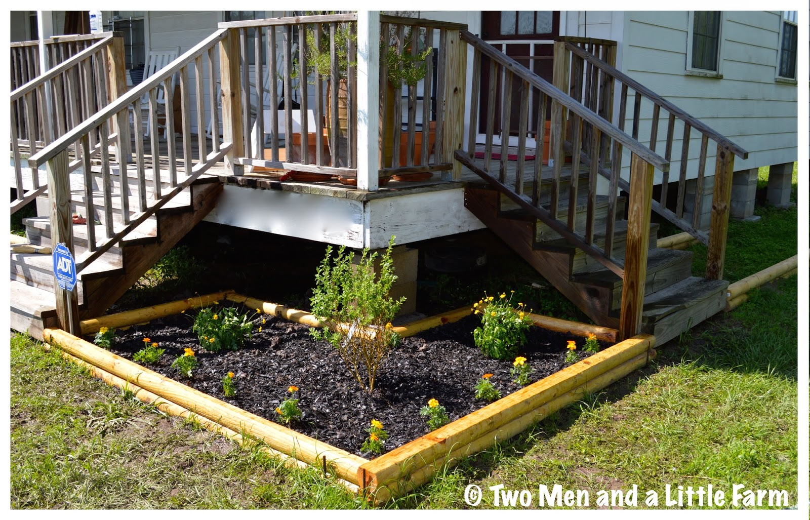 how to build a flower bed with landscape timbers