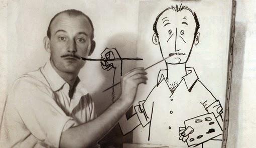 Es dibuixa a si mateix, i el dibuix també el dibuixa a ell.