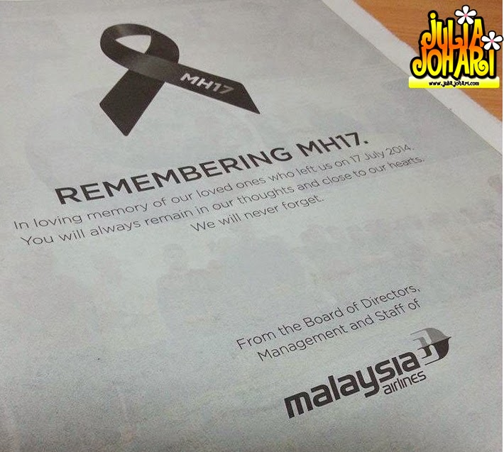 Hari Perkabungan Negara 22 Ogos 2014 MH17