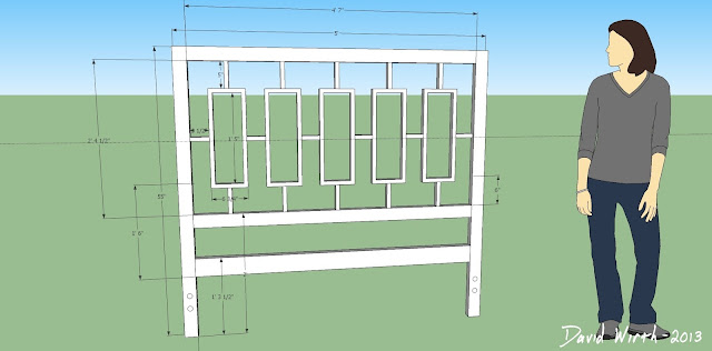 headboard google sketch up, sketchup, design, plan, dimensions