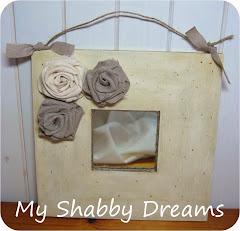 Specchio Shabby con rose