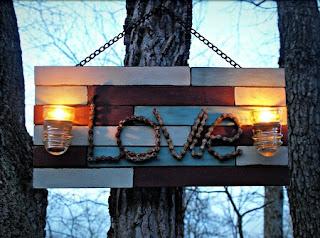 Cuadro Reciclado para San Valentin, Ideas para el Dia de los Enamorados