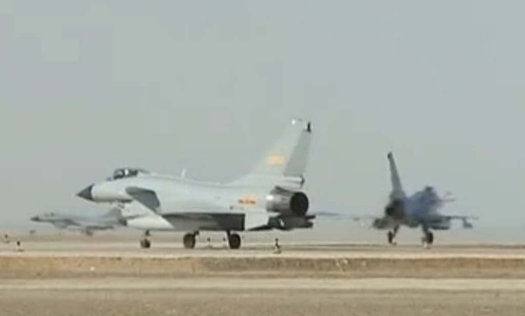 J-11 And J-10 Fighter Jets Take Part in Joint Exercise ...