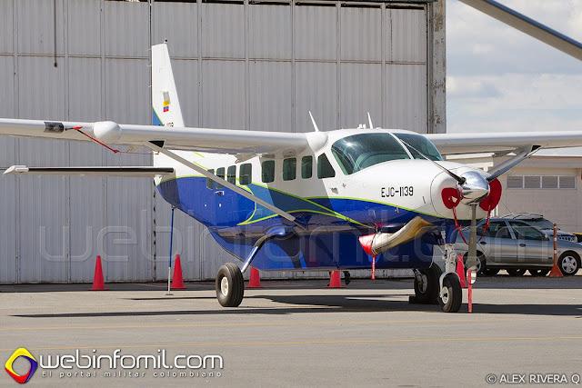 La Aviación del Ejército de Colombia cuenta con un nuevo Cessna Grand Caravan EX (EJC1139) que reemplazará un avión  de similares características siniestrado hace un año.