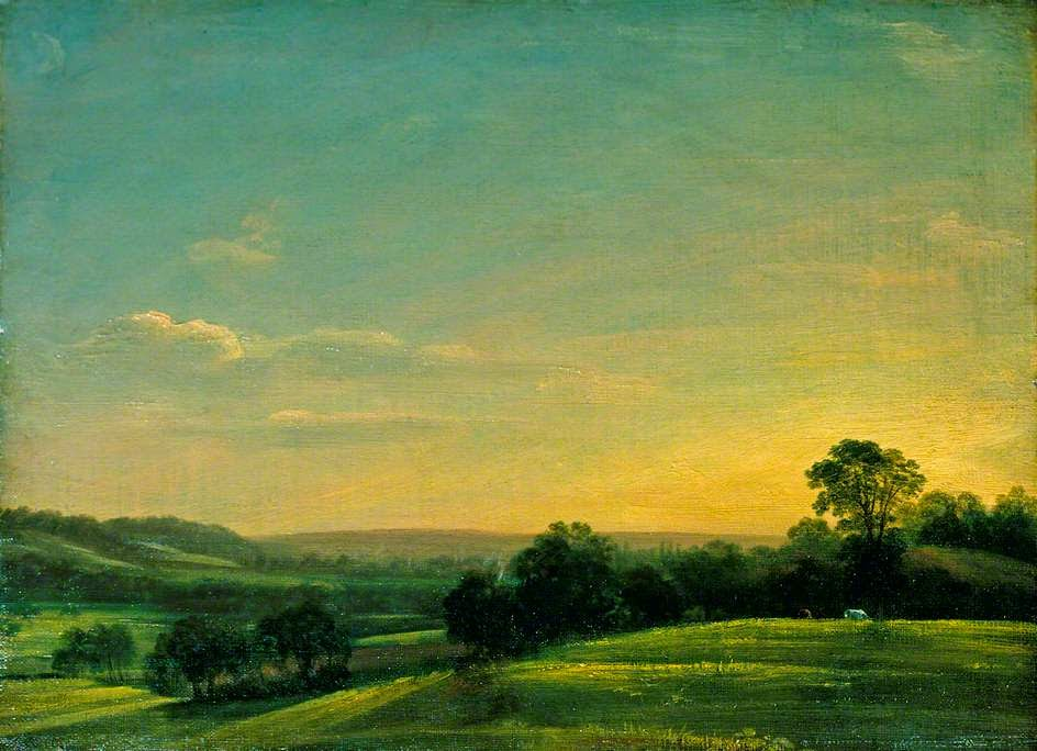 John Constable - Dedham Vale,evening,1802.