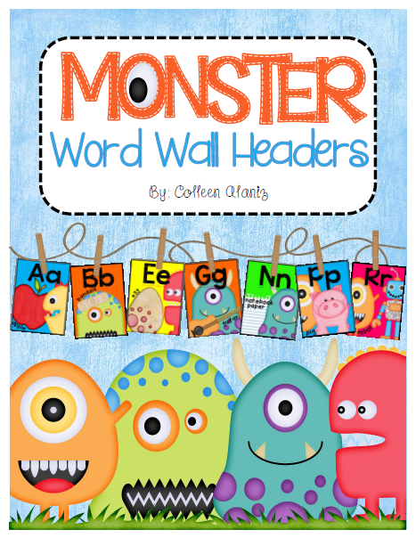 http://www.teacherspayteachers.com/Product/Monster-Word-Wall-Headers-1358504