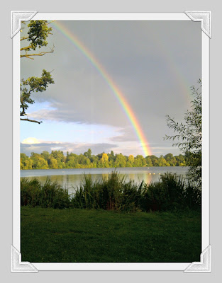 rainbow, after the rain, rainbow over the lake, water, lake, scenery, wordless Wednesday, photo, photography.