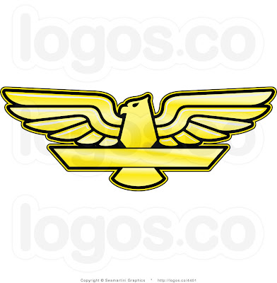 royalty free yellow eagle logo by seamartini graphics 4401