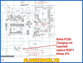Nokia 6120 charging not suppored jumper diagram hardware problem solution