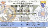 Final de la CIS Cup. Rangers 3-2 Dundee United. Marzo 2008