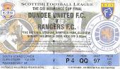 Final de la CIS Cup. Rangers 3-2 Dundee United. Marzo 2008