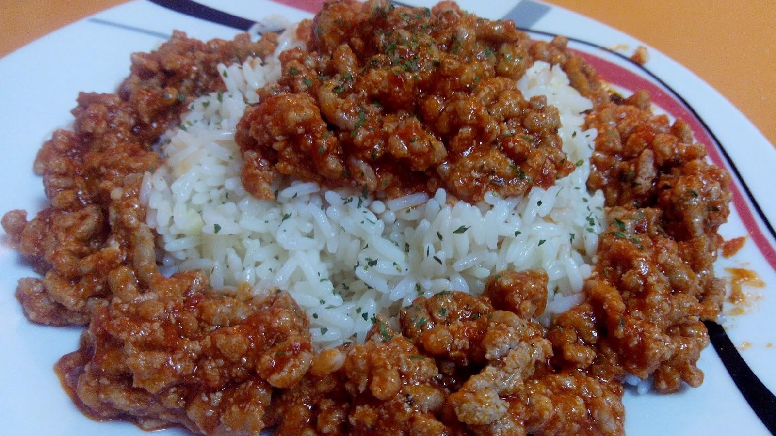 La cocina f cil de silvia arroz blanco con picadillo de cerdo - Comidas con arroz blanco ...