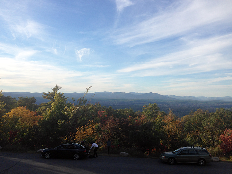 Beautiful view of the Shawangunk Mountains from Mohonk Mountain House, Upstate New York, Nature, fall colors, autumn