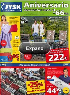 ofertas de aniversario JYSK 2013