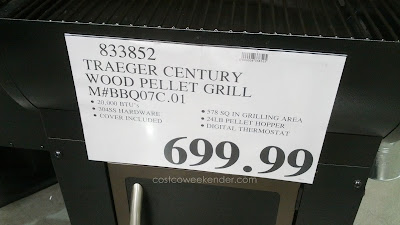 Traeger Century Wood Pellet BBQ Grill (model BBQ07C.01) makes temperature control easy