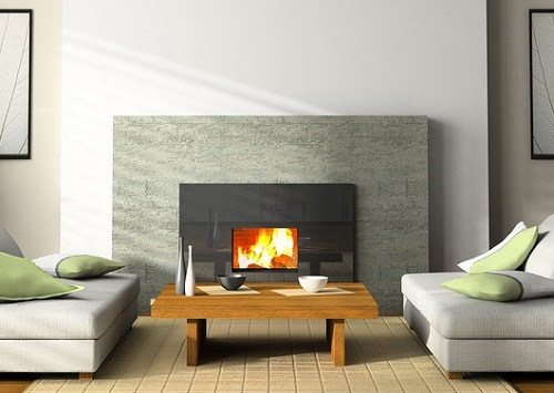 Minimalist Pre-Fab Fireplace