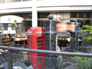 British phone booth outside the Elephant and Castle in Seattle