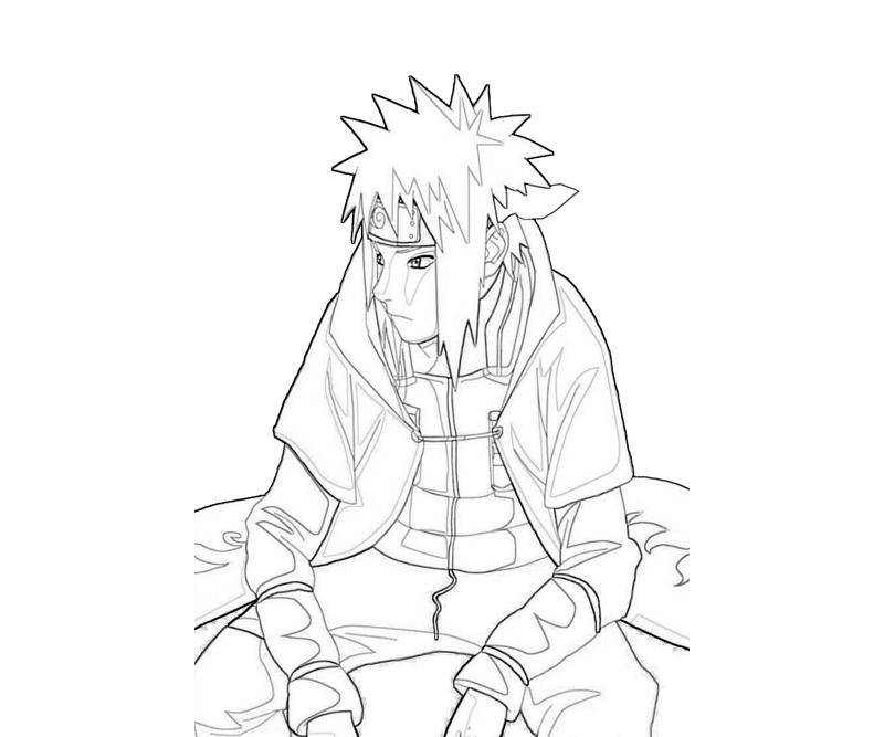 naruto minato style coloring pages