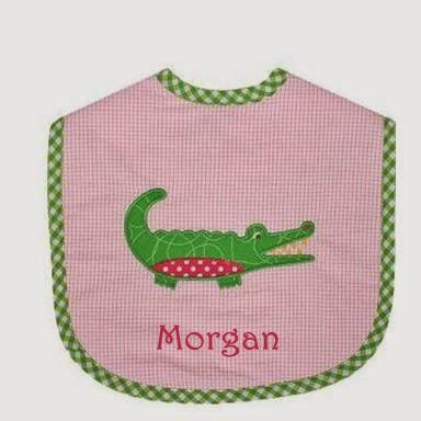 3 Marthas alligator personalized bib