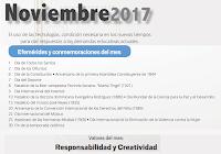 Efemérides Noviembre 2017