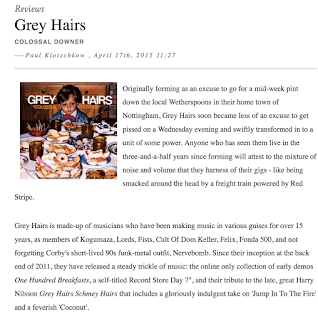 Grey Hairs Colossal Downer review for The Quietus
