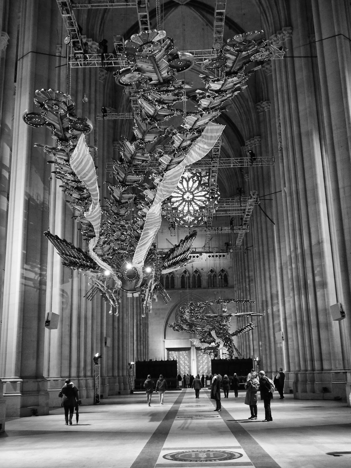 Length #length #phoenix  #xubing #stjohnthedivinecathedral #art #nyc ©2014 Nancy Lundebjerg