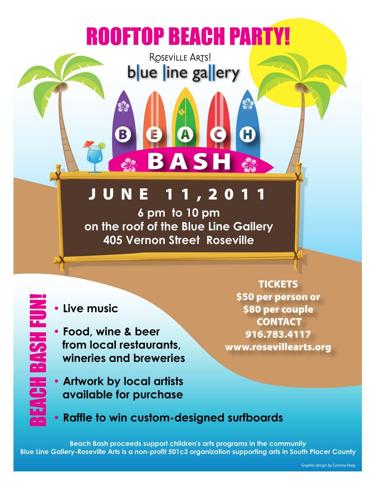 Corinne Design Beach Bash Fundraiser Branding Logo Amp Poster