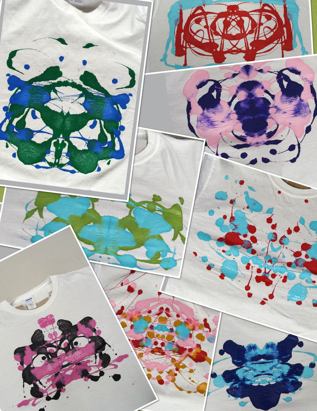 Design t shirt hand made - Ink Blot T Shirt Party 50 Kids 50 Shirts