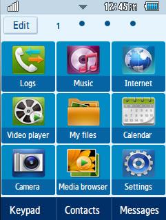 General Google Samsung Corby 2 Theme Menu