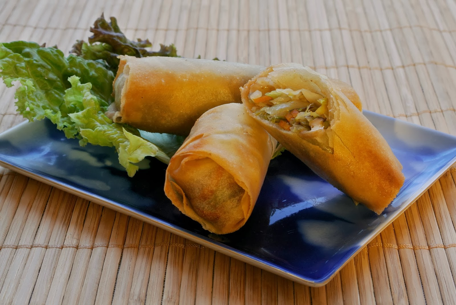 Berkshire Vegan: deep-fried spring rolls