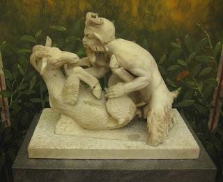One freaky Roman statue.