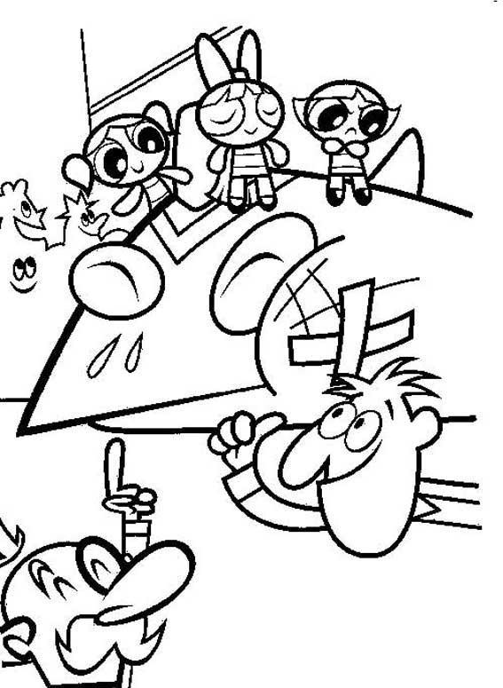 a desenhar meninas super poderosas e seus amigos colorir