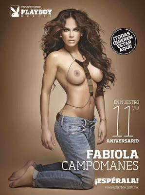 Fotos Fabiola Campomanes en Revista Playboy Octubre 2013