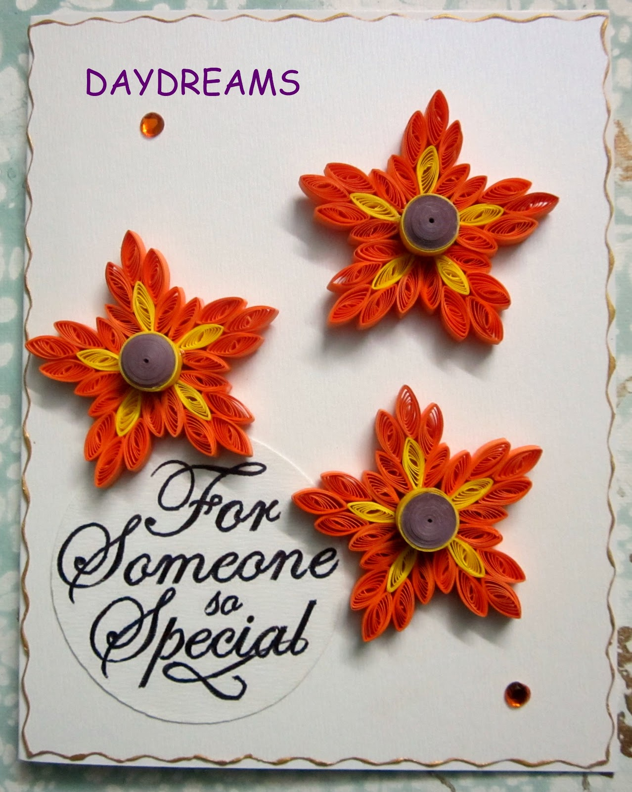 DAYDREAMS: Quilled butterfly card